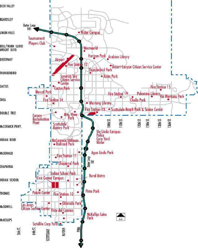 scottsdale arizona facility map