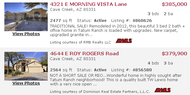 Tatum Ranch Current Listings