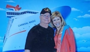 Jeff and Jane Boarding the Carnival Magic