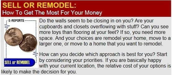 Sell or Remodel - Get The Most For The Dollar