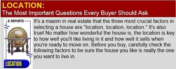 Location: Questions Every Home Buyer Should Ask