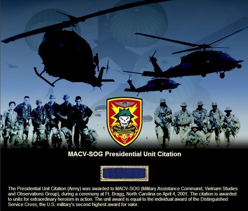Presidential Unit Citation Award   MACV-SOG   US Army