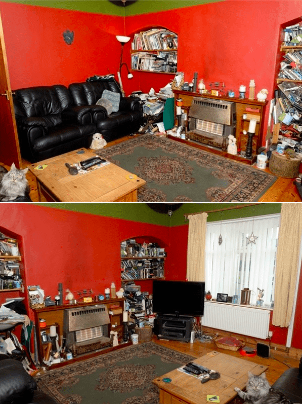 Highly Decorated Family Room