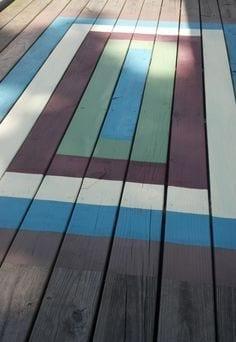 faux painted deck