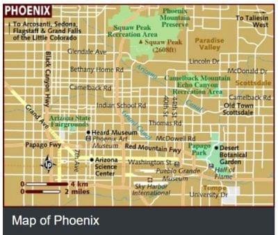 Phoenix Metropolitan Area Map