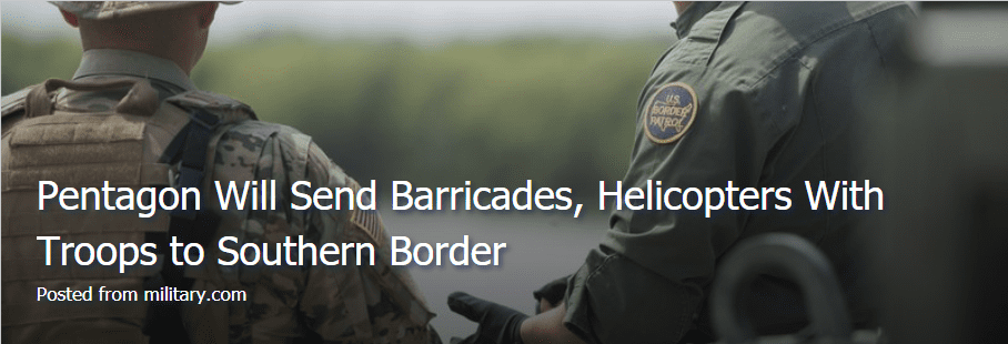 Pentagon Sending Barricades